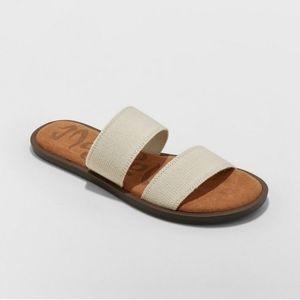 Mad Love Tan Elastic slip on Sandals
